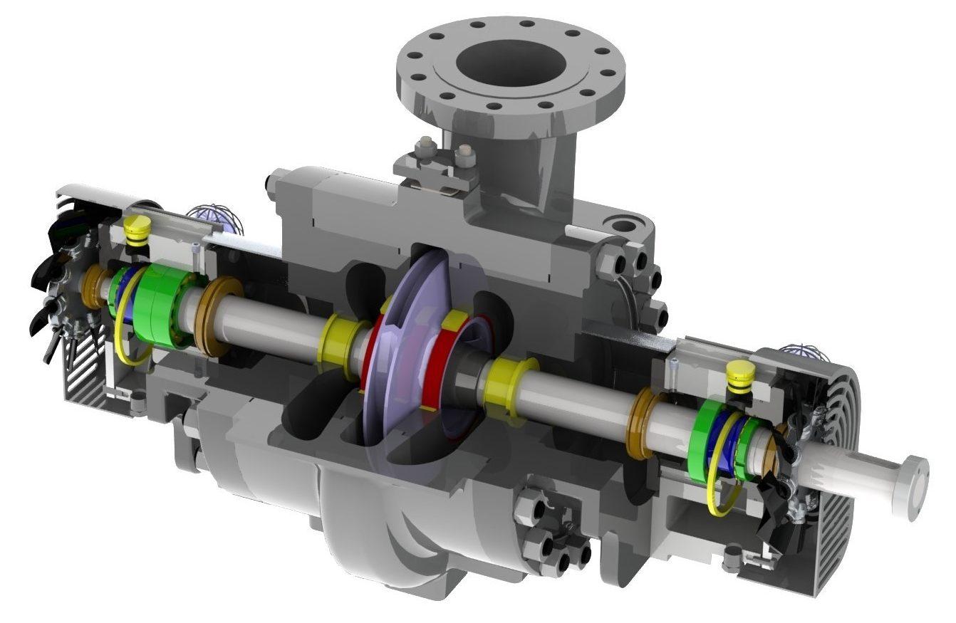 Between-bearing-pump-ปั้ม-ภาพตัด-crossection