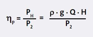 formula ประสิทธ์ภาพปั้ม pump efficency